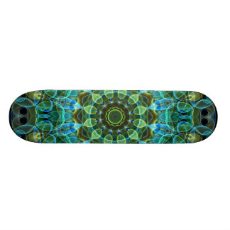 Owl Eyes kaleidoscope Skateboard