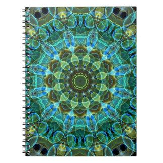 Owl Eyes kaleidoscope Spiral Notebook