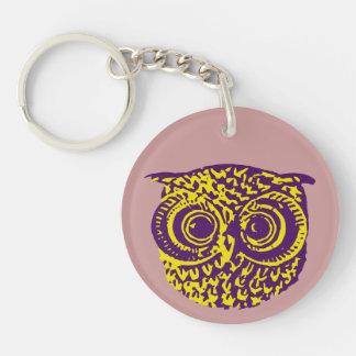 Owl Eyes Double-Sided Round Acrylic Keychain