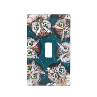 OWL EYES ON YOU by Slipperywindow Light Switch Cover
