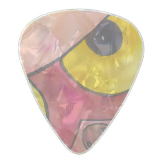 Owl eyes on you guitar pick pearl celluloid guitar pick