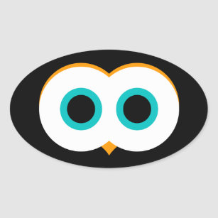cartoon owl eyes stickers zazzle rh zazzle com Owl Eyes Drawing Abstract Owl Eyes