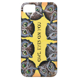 Owl eyes phone case yellow iPhone 5 cover