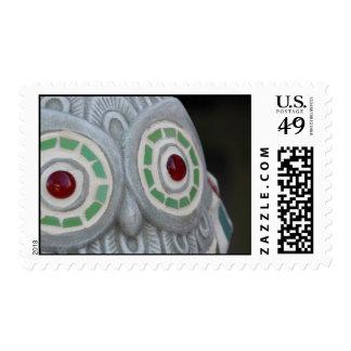 Owl Eyes Postage Stamp