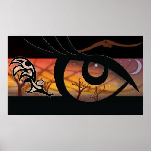 owl eyes print