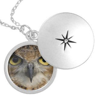 Owl Eyes Round Locket Necklace