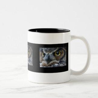 Owl Eyes Two-Tone Coffee Mug
