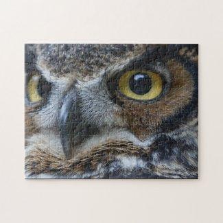 Owl Eyes Wildlife Jigsaw Puzzle