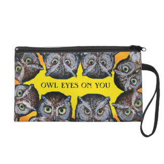 OWL EYES WRIST BAG YELLOW