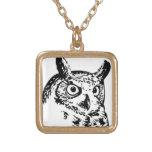 Owl Face Custom Necklace