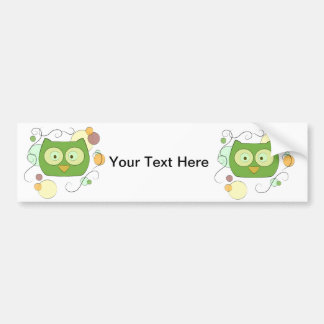 Owl Face for Spring Car Bumper Sticker