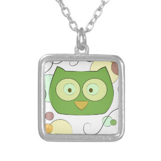 Owl Face for Spring Necklaces
