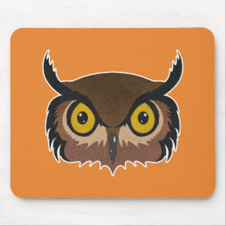 Owl Face Mouse Pad
