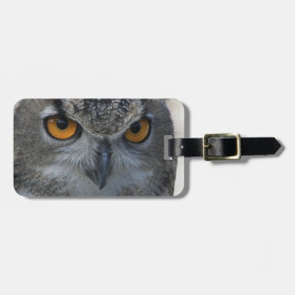 Owl Face Photo Tag For Luggage