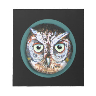 OWL FACE WITH BIG EYES NOTEPAD