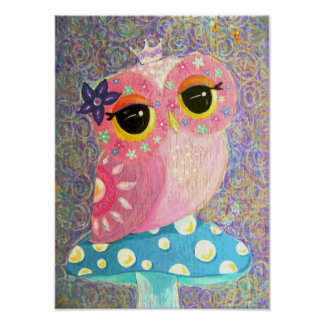 Owl Fairy Princess Poster