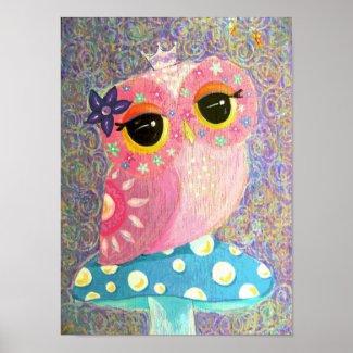 Owl Fairy Princess print