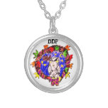 owl fall art four silver plated necklace