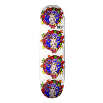owl fall art four skateboard deck