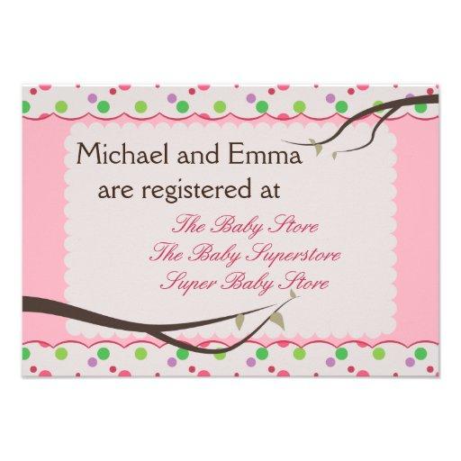 owl family baby shower registry card 3 5 x 5 invitation card