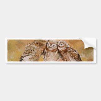 Owl Family Bumper Sticker