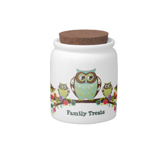 Owl Family Candy Jar