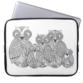 Owl Family Case Laptop Sleeves