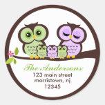 Owl Family Classic Round Sticker