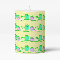 owl-family-cute-clipartyellow pillar candle