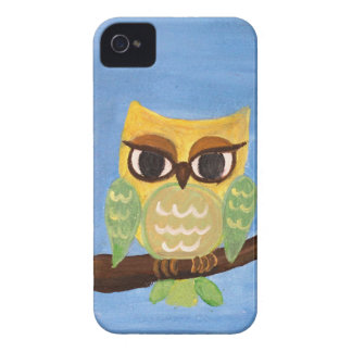 Owl family on a tree Case-Mate iPhone 4 cases