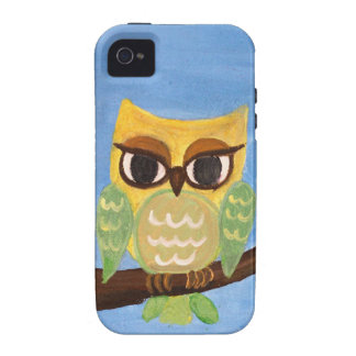 Owl family on a tree iPhone 4 cases