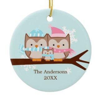 Owl Family Ornaments ornament