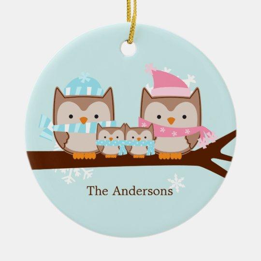 Owl Family Ornaments