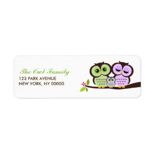 Fabulous Owl Shipping, Address, & Return Address Labels | Zazzle HN47