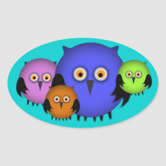 Owl Family Stickers