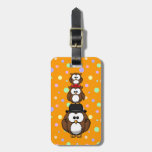 Owl family tag for luggage