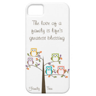 Owl Family Tree and Quote iPhone SE/5/5s Case