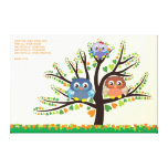 Owl Family Tree Canvas Print