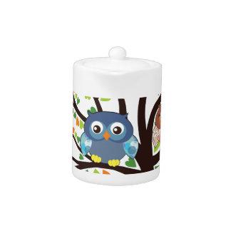 Owl Family Tree Teapot
