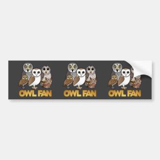 Owl Fan Bumper Sticker