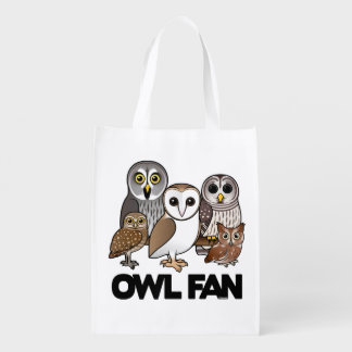 Owl Fan Grocery Bag