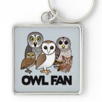 Owl Fan Keychain