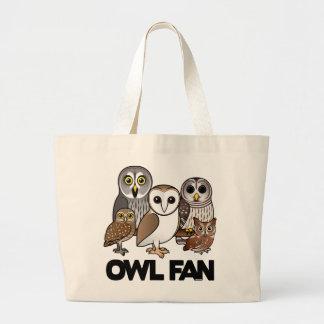 Owl Fan Large Tote Bag
