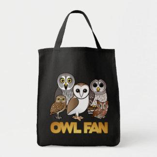 Owl Fan Tote Bag