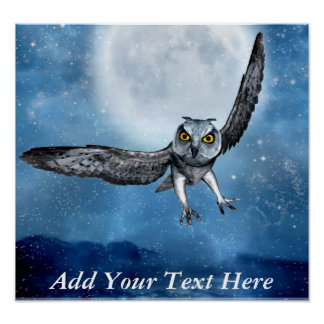Owl Fantasy Poster