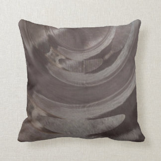 Owl Feather with Marbled Effect Throw Pillow