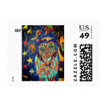 owl fell art two postage