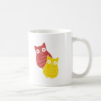 Owl Fellows one of Red one of Yellow Coffee Mug