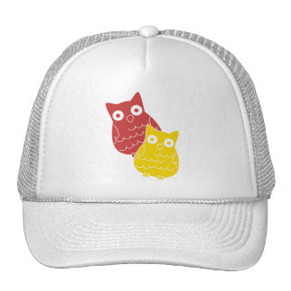 Owl Fellows one of Red one of Yellow Hat