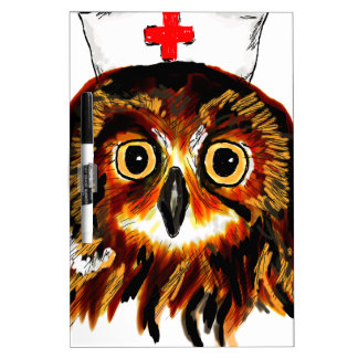 Owl first assistance dry erase board